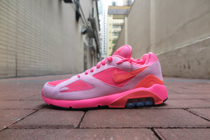 COMME des GARCONS X Nike Air Max 180 - Lacer Pink/Solar Red/Pink Rise #AO4641-602-Sneakers-Navy Selected Shop
