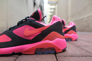 COMME des GARCONS X Nike Air Max 180 - Lacer Pink/Solar Red/Black #AO4641-601-Sneakers-Navy Selected Shop