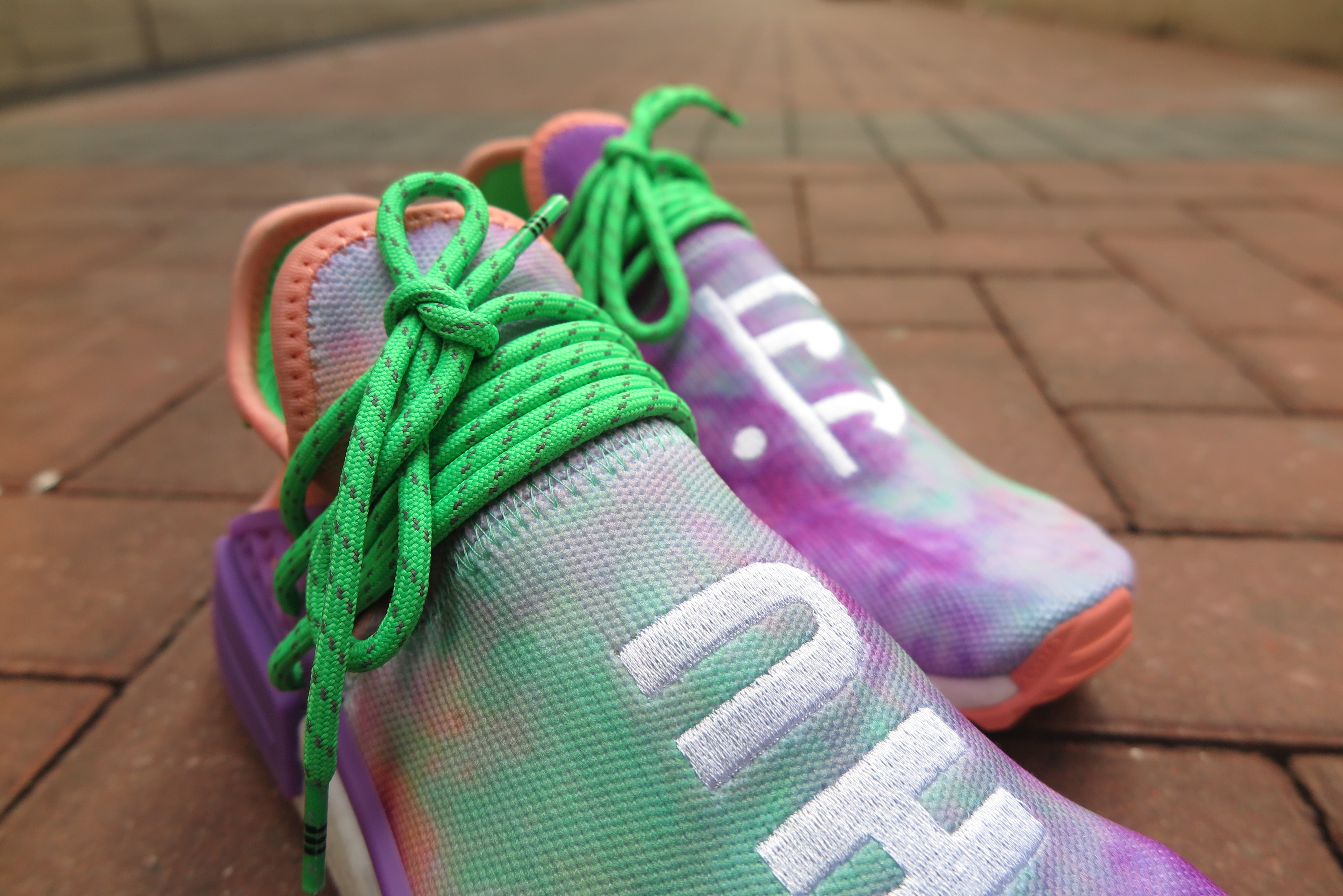 Pharrell Williams X adidas NMD Hu Holi MC - Chalk Coral/Supplier Colour #AC7034-Sneakers-Navy Selected Shop