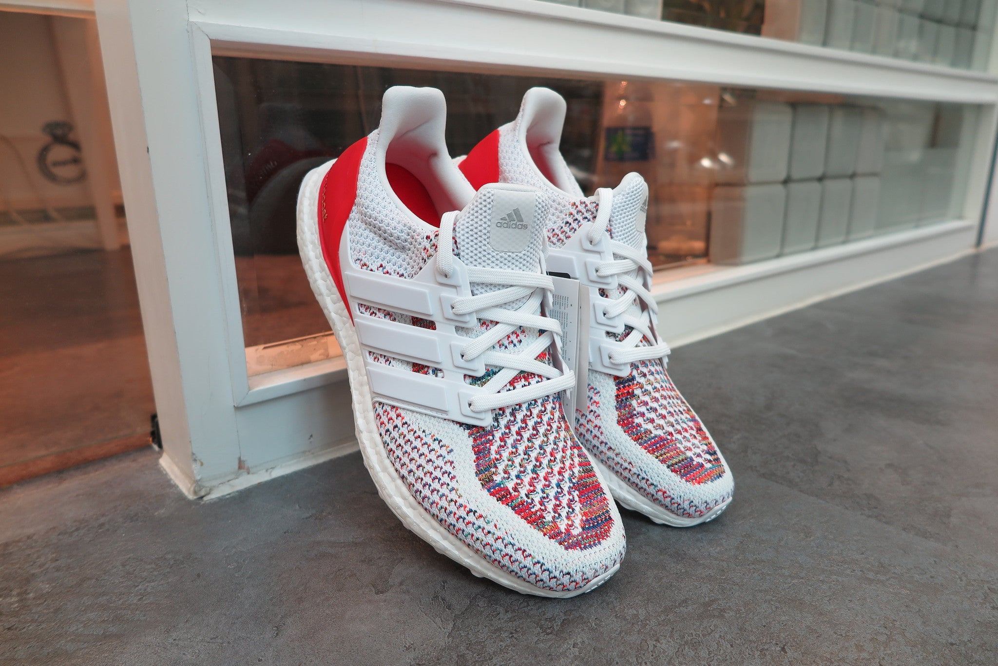 "adidas Ultra Boost ""Multicolor"" - Footwear White/Red #BB3911-Sneakers-Navy Selected Shop"