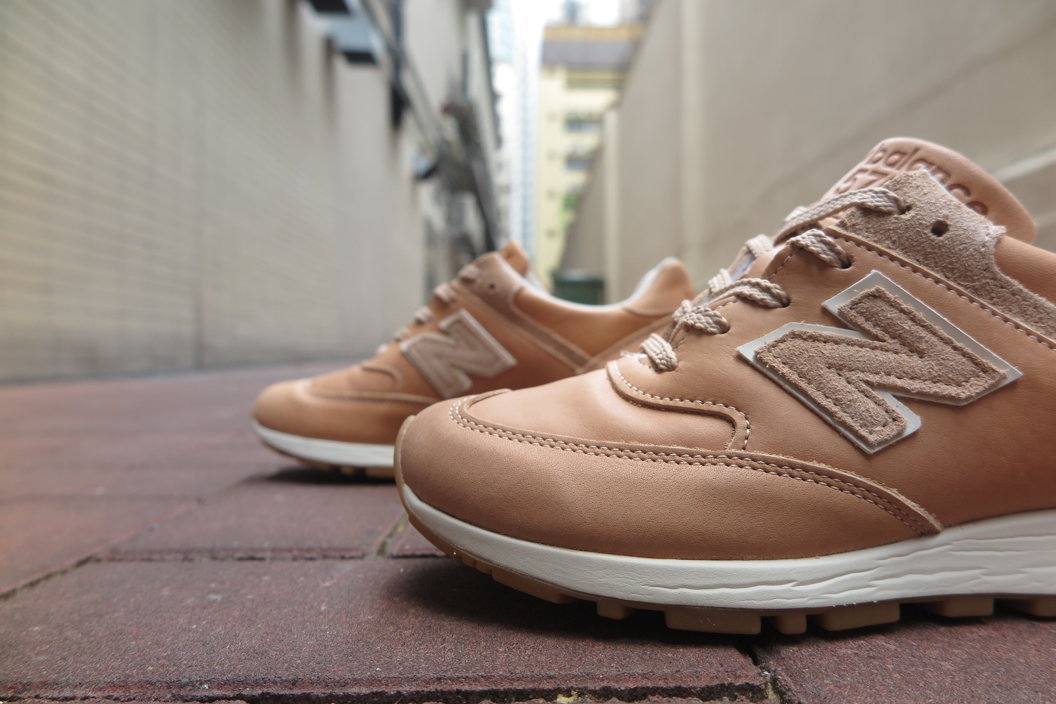 Horween Leather x New Balance W576VT Made in England-Sneakers-Navy Selected Shop