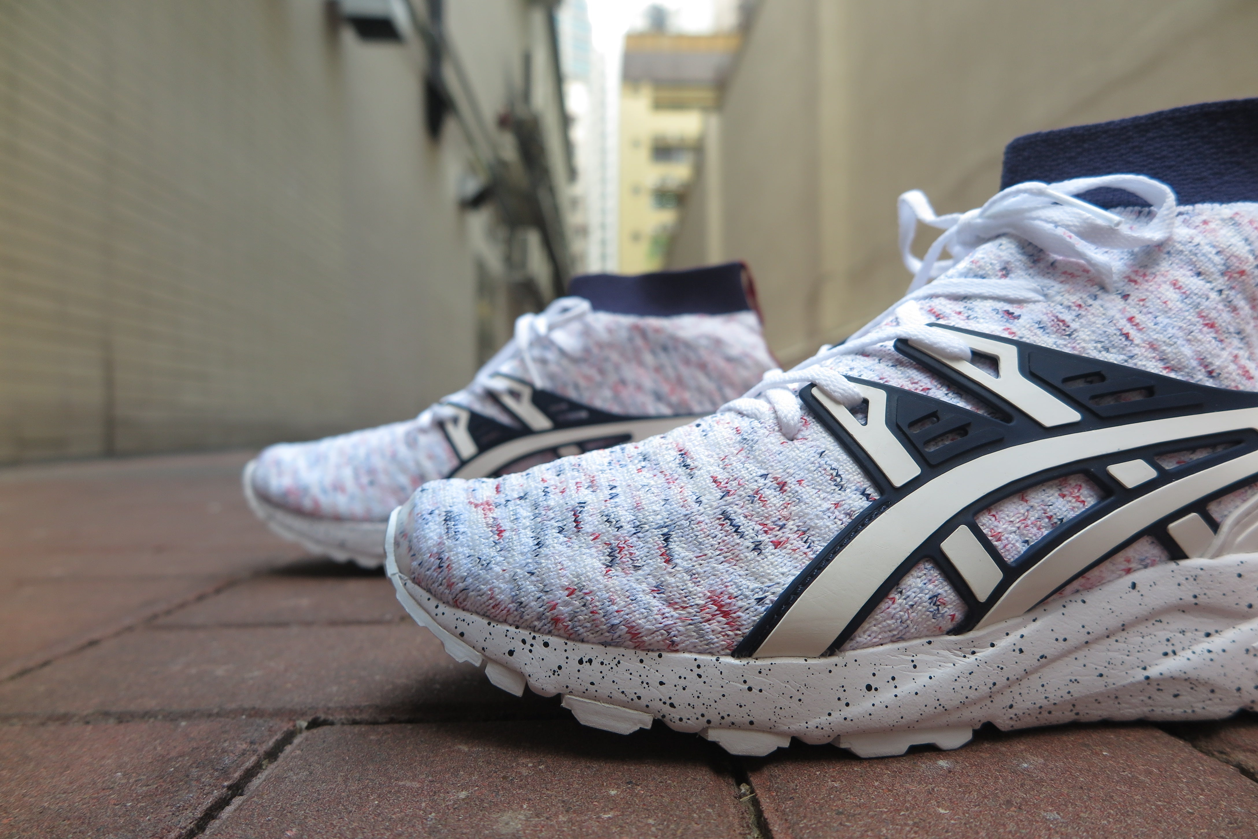 Asics Gel Kayano Trainer Knit MT - White/White #HN707-0101-Preorder Item-Navy Selected Shop