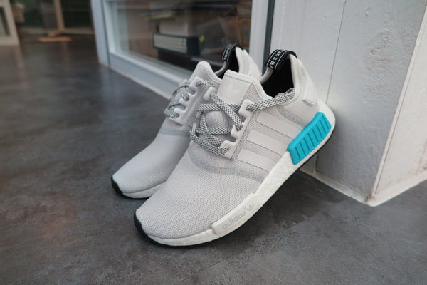 adidas NMD_R1 - White/Bright Cyan #S31511-Sneakers-Navy Selected Shop