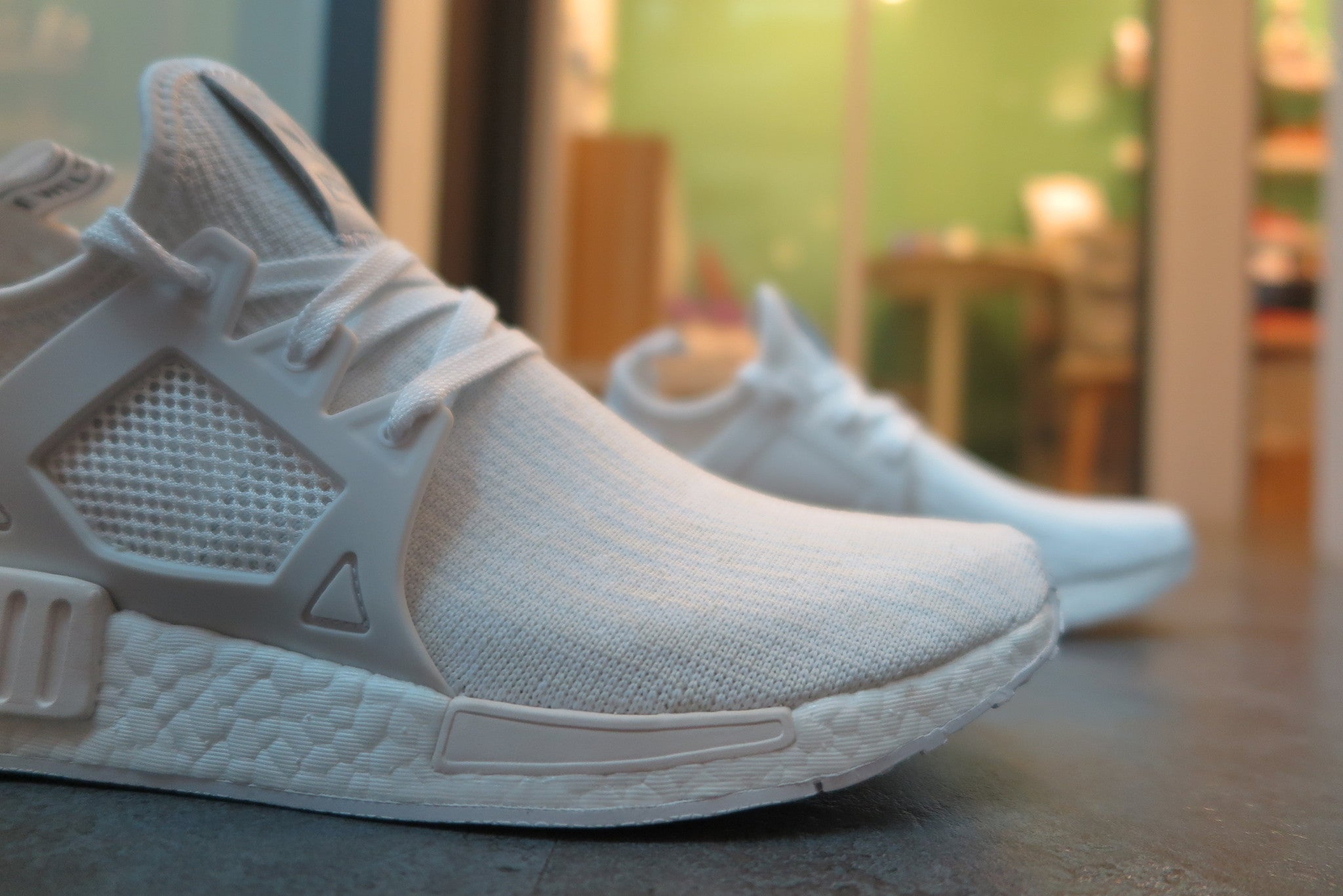 adidas NMD_XR1 Primeknit - White/Vintage White #BB1967-Sneakers-Navy Selected Shop