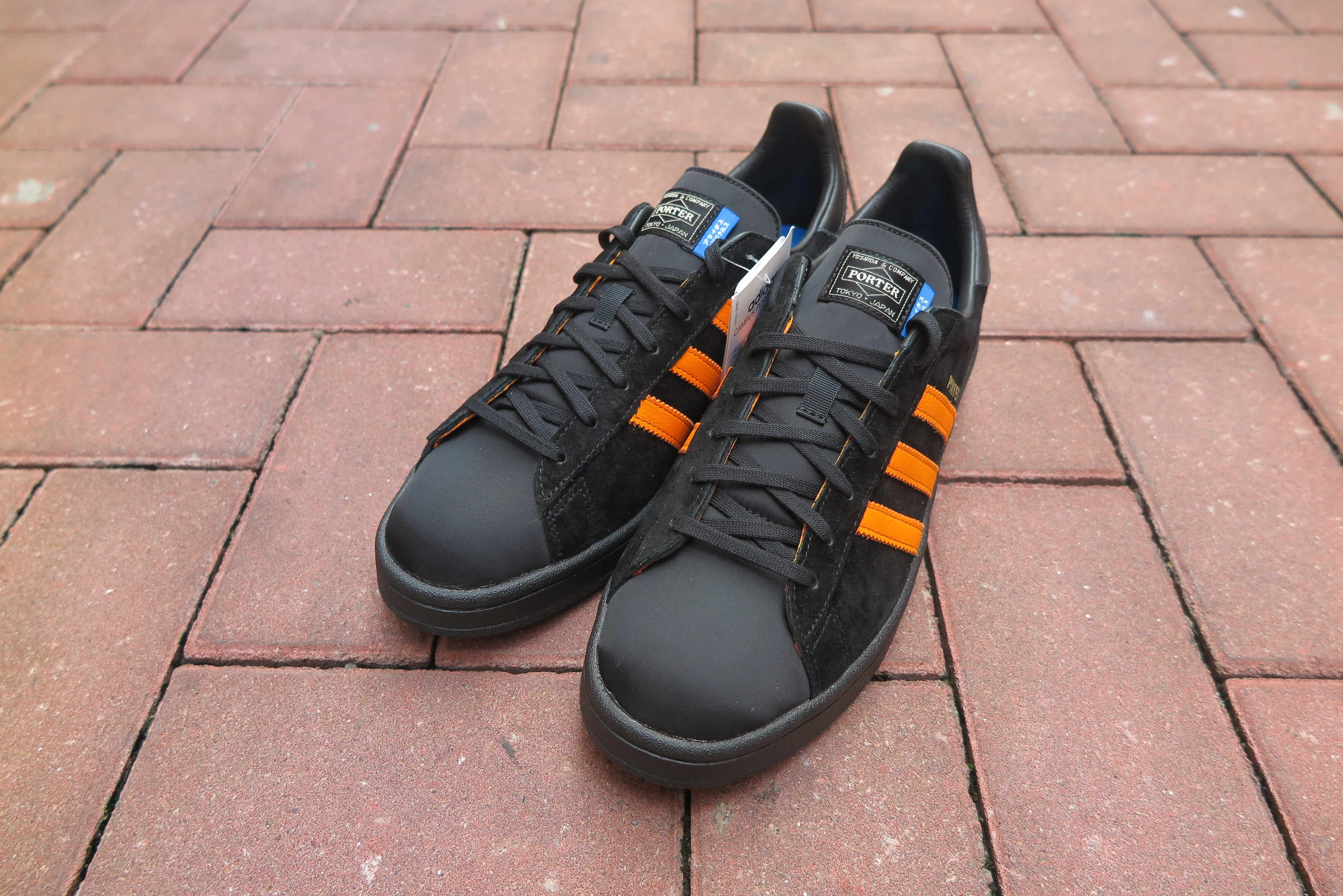 Porter X adidas Campus - Core Black/Bright Orange #B28143-Preorder Item-Navy Selected Shop