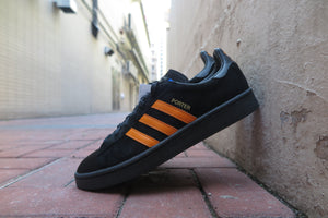 Porter X adidas Campus - Core Black/Bright Orange #B28143-Sneakers-Navy Selected Shop