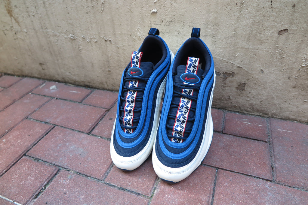 Nike Air Max 97 SE - Obsidian/University Red/Sail/Blue Nebula #AQ4126-400-Sneakers-Navy Selected Shop