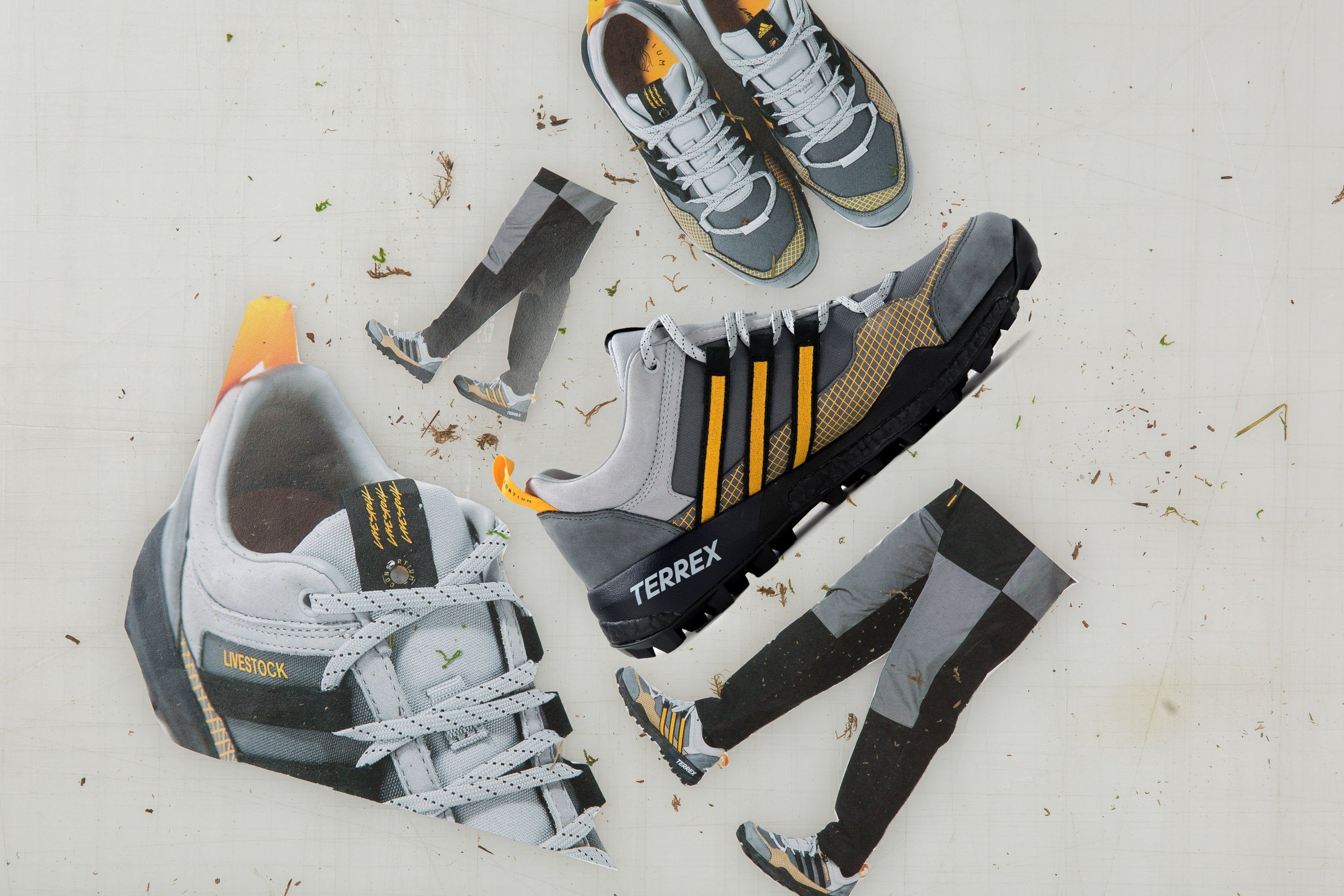 Livestock x adidas Terrex Skychaser - Stone/Core Black/Grey Five #B37853-Preorder Item-Navy Selected Shop