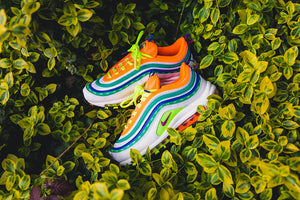 "Nike Air Max 97 On Air ""London Summer of Love"" - White/Hyper Violet/Volt #CI1504-100-Preorder Item-Navy Selected Shop"