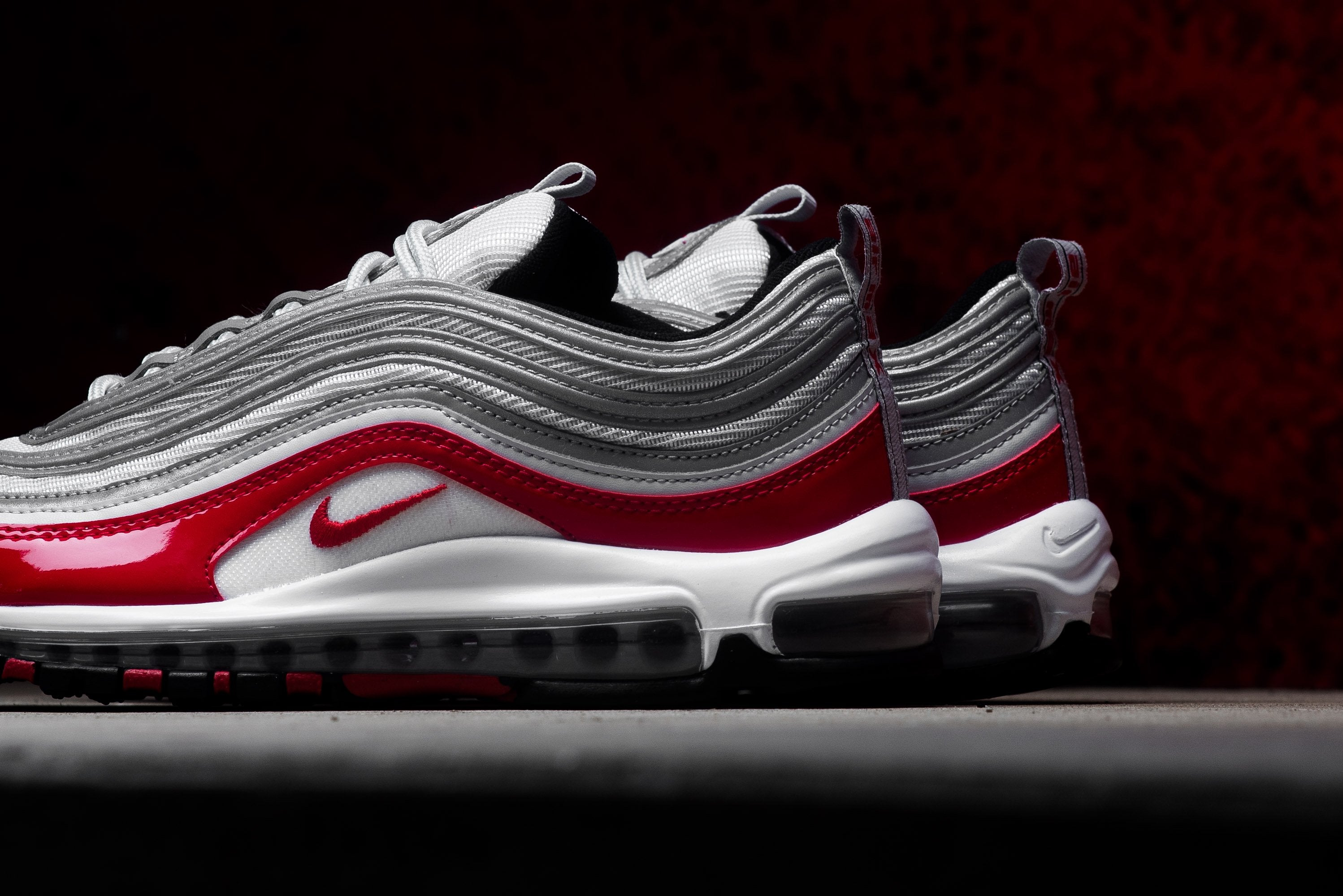 Nike Air Max 97 - Pure Platinum/University Red/Black/White #921826-009-Preorder Item-Navy Selected Shop