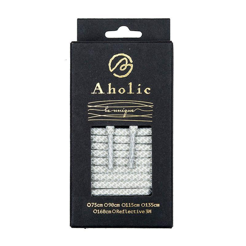 Aholic Normal Serpentine Shoelaces (蛇紋鞋帶) - White Serpentine (白蛇紋)-Shoelaces-Navy Selected Shop