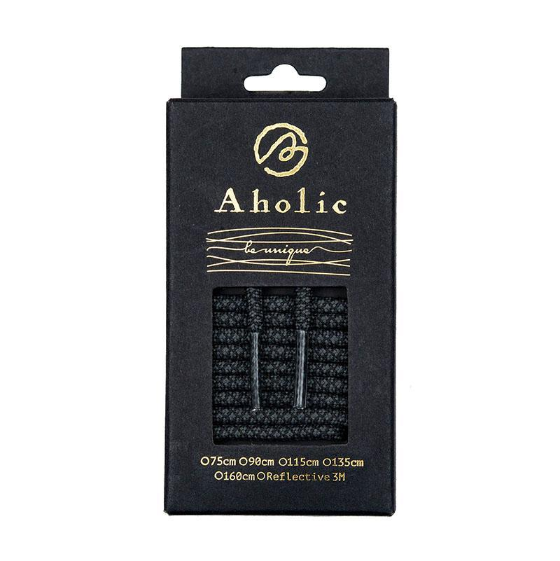 Aholic Normal Serpentine Shoelaces (蛇紋鞋帶) - Black Serpentine (黑蛇紋)-Shoelaces-Navy Selected Shop