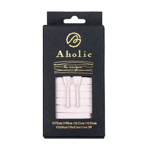 Aholic Original Classic Flat Shoelaces (經典扁帶) - Pink (粉紅)-Shoelaces-Navy Selected Shop