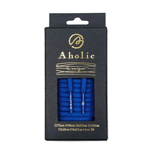 Aholic Original Classic Round Shoelaces (經典圓帶) - Blue (藍)-Shoelaces-Navy Selected Shop