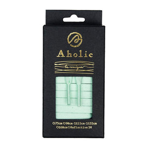 Aholic Original Classic Flat Shoelaces (經典扁帶) - Lake Green (湖水綠)-Shoelaces-Navy Selected Shop