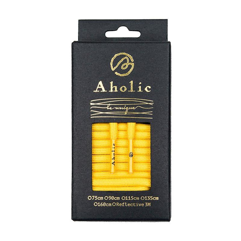 Aholic Original Classic Round Shoelaces (經典圓帶) - Yellow (黃)-Shoelaces-Navy Selected Shop