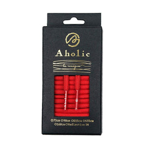 Aholic Original Classic Round Shoelaces (經典圓帶) - Red (紅)-Shoelaces-Navy Selected Shop