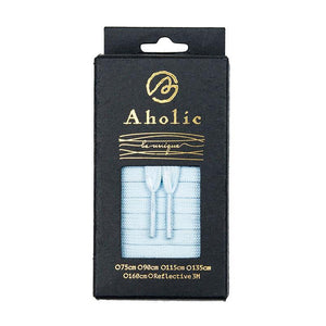 Aholic Original Classic Flat Shoelaces (經典扁帶) - Baby Blue (粉藍)-Shoelaces-Navy Selected Shop