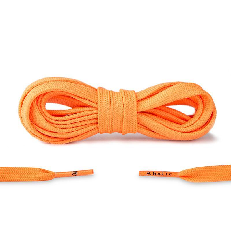 Aholic Original Classic Flat Shoelaces (經典扁帶) - Bright Orange (亮橙)-Shoelaces-Navy Selected Shop