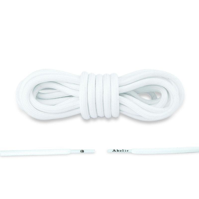 Aholic Original Classic Round Shoelaces (經典圓帶) - White (白)-Shoelaces-Navy Selected Shop