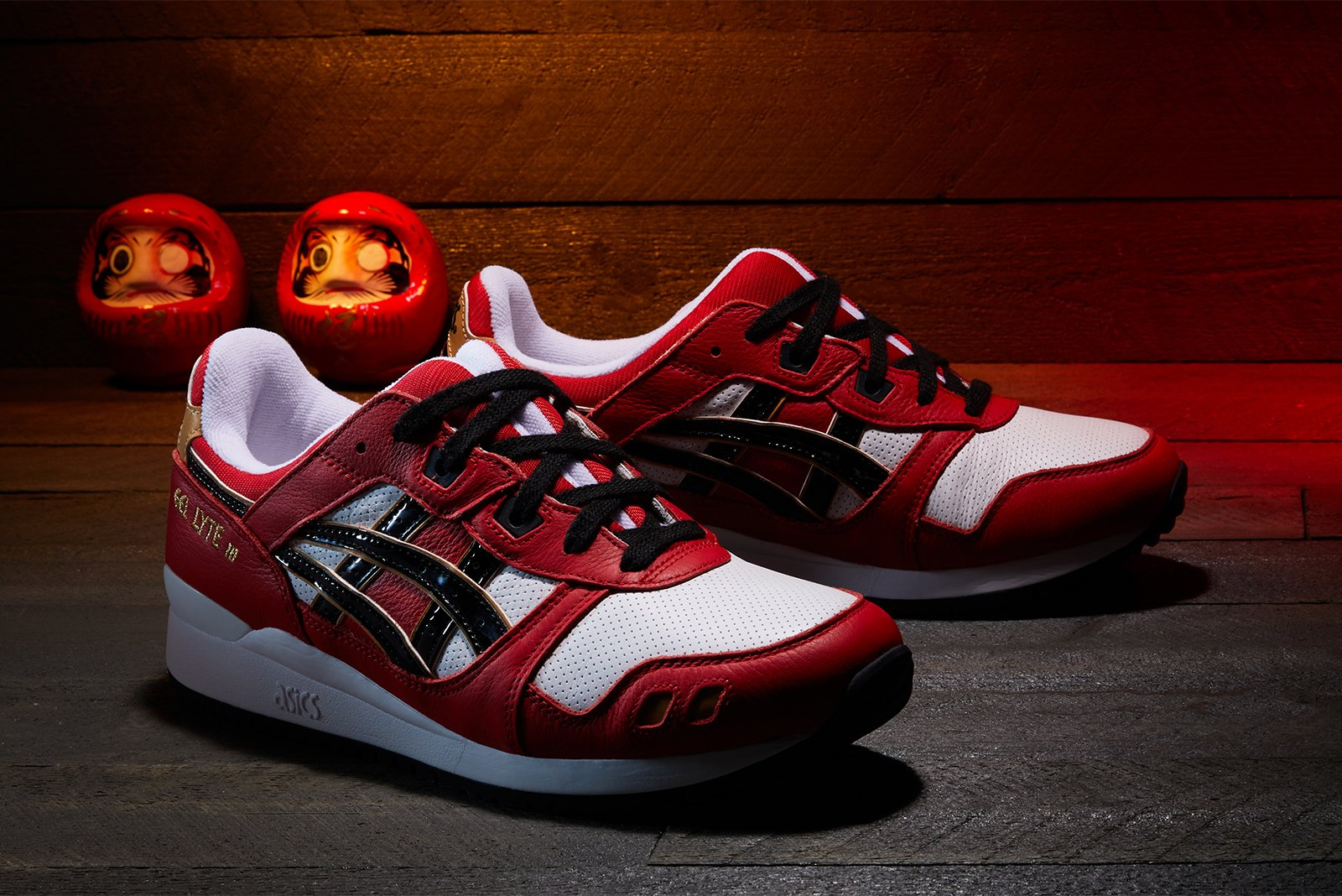 "Asics Gel Lyte III OG ""Daruma Doll"" - Classic Red/Black #1201A180-600-Preorder Item-Navy Selected Shop"
