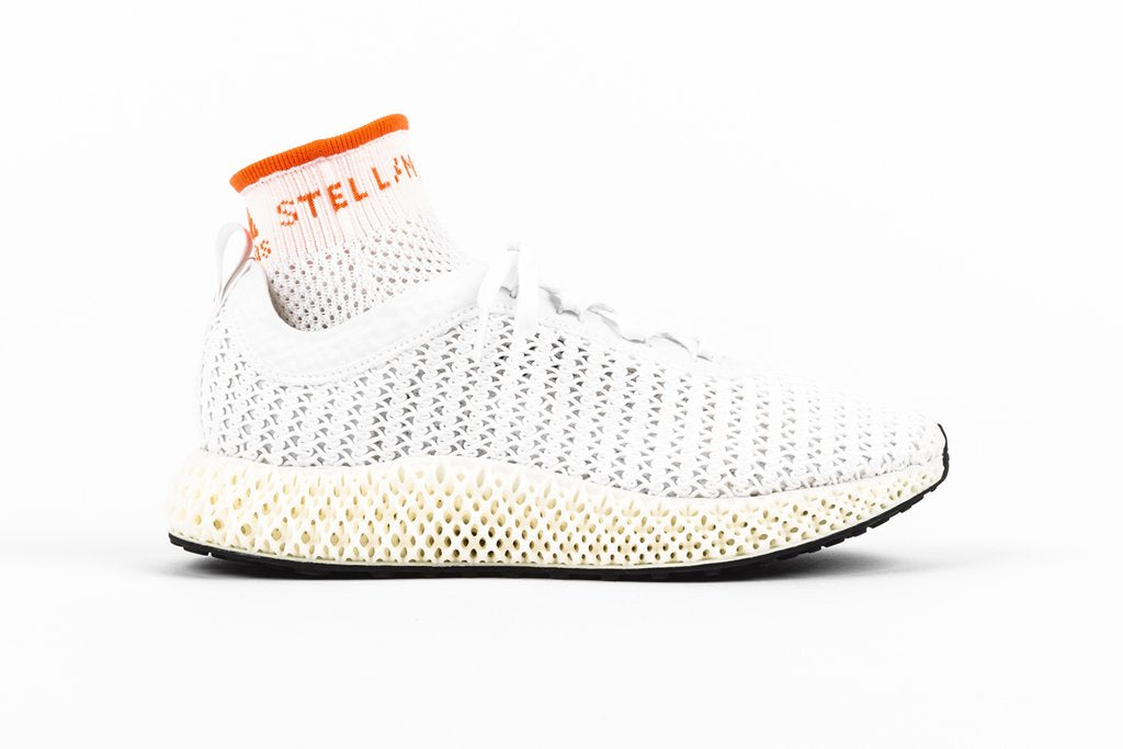 adidas by Stella McCartney Alphaedge 4D - Core White/True Orange/Core Black #G25869-Preorder Item-Navy Selected Shop