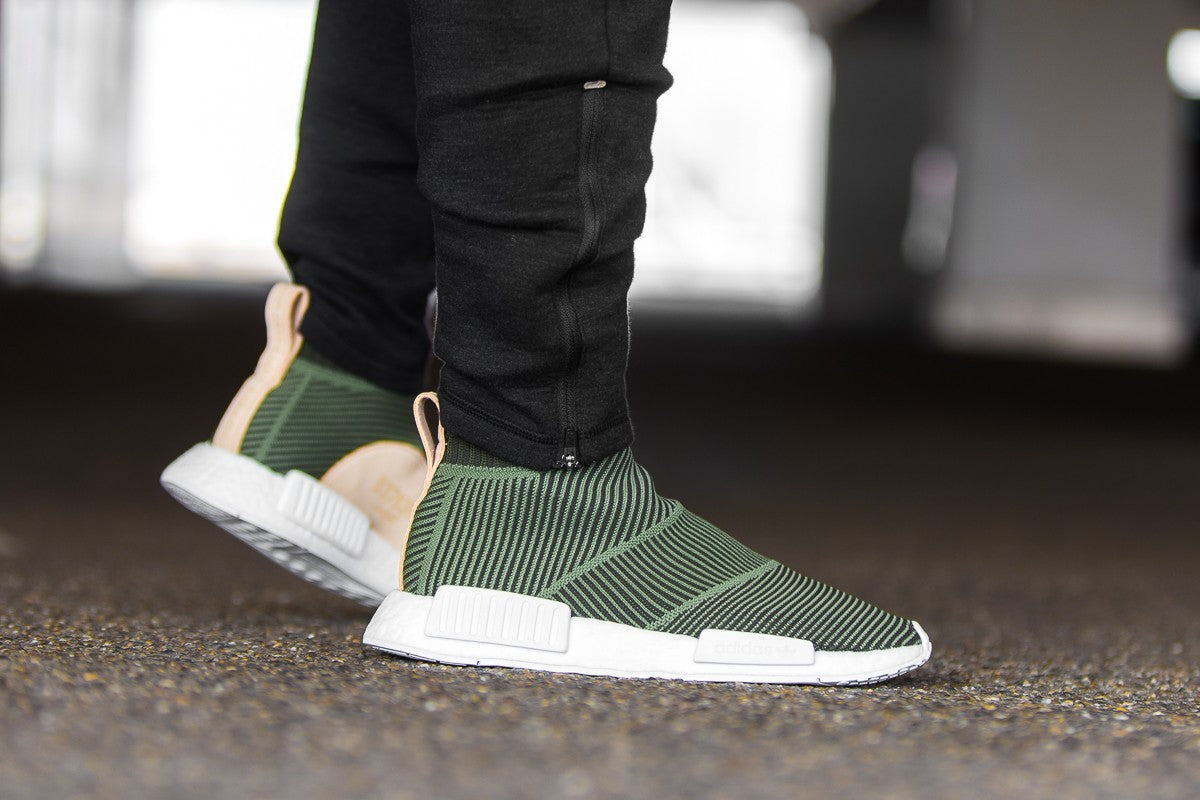 adidas NMD_CS1 Primeknit - Night Cargo/Base Green/Footwear White #B37638-Preorder Item-Navy Selected Shop