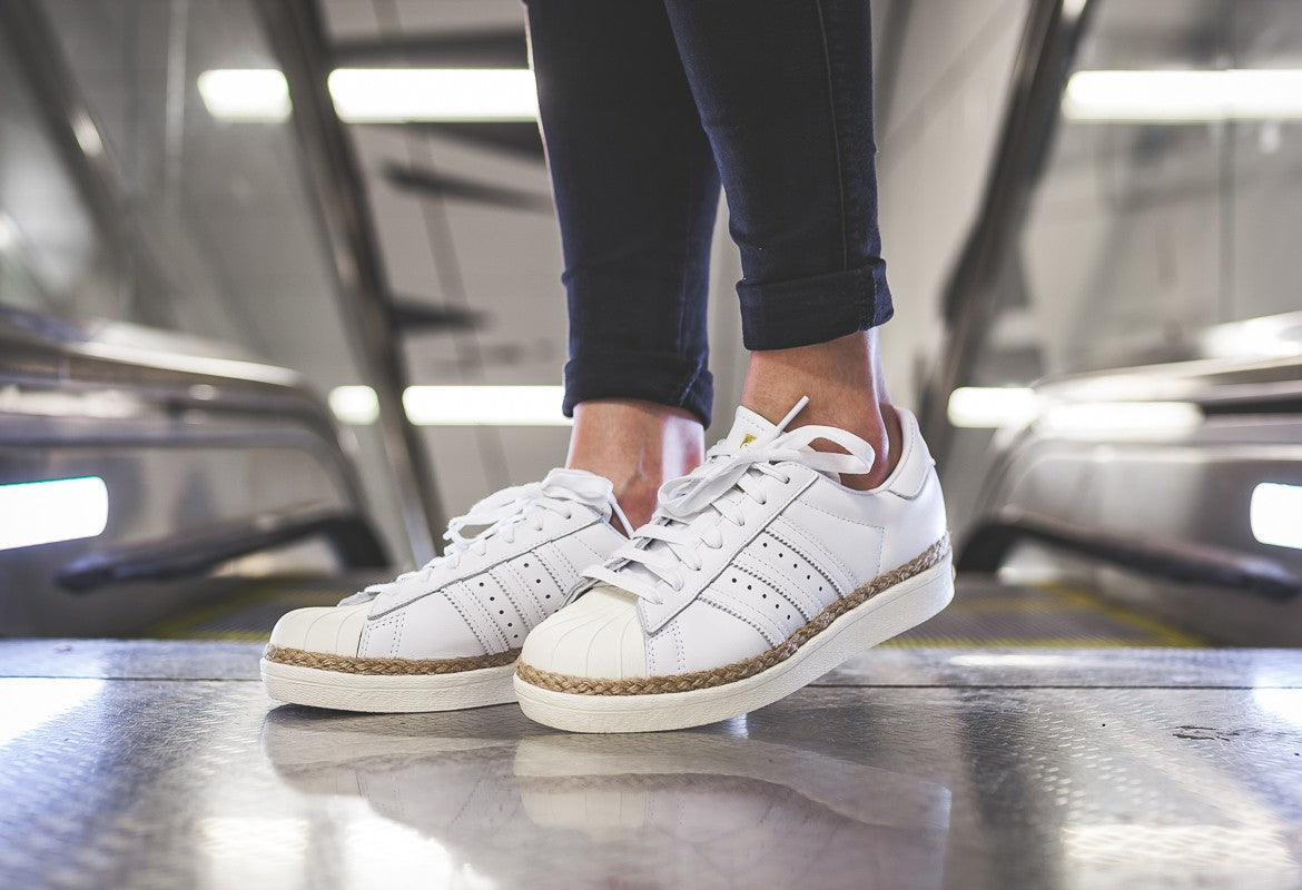 adidas WMNS Superstar 80s New Bold - Footwear White/Off White #DA9573-Preorder Item-Navy Selected Shop