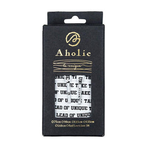 Aholic Be Unique Message Shoelaces (文字鞋帶) - White (白)-Shoelaces-Navy Selected Shop