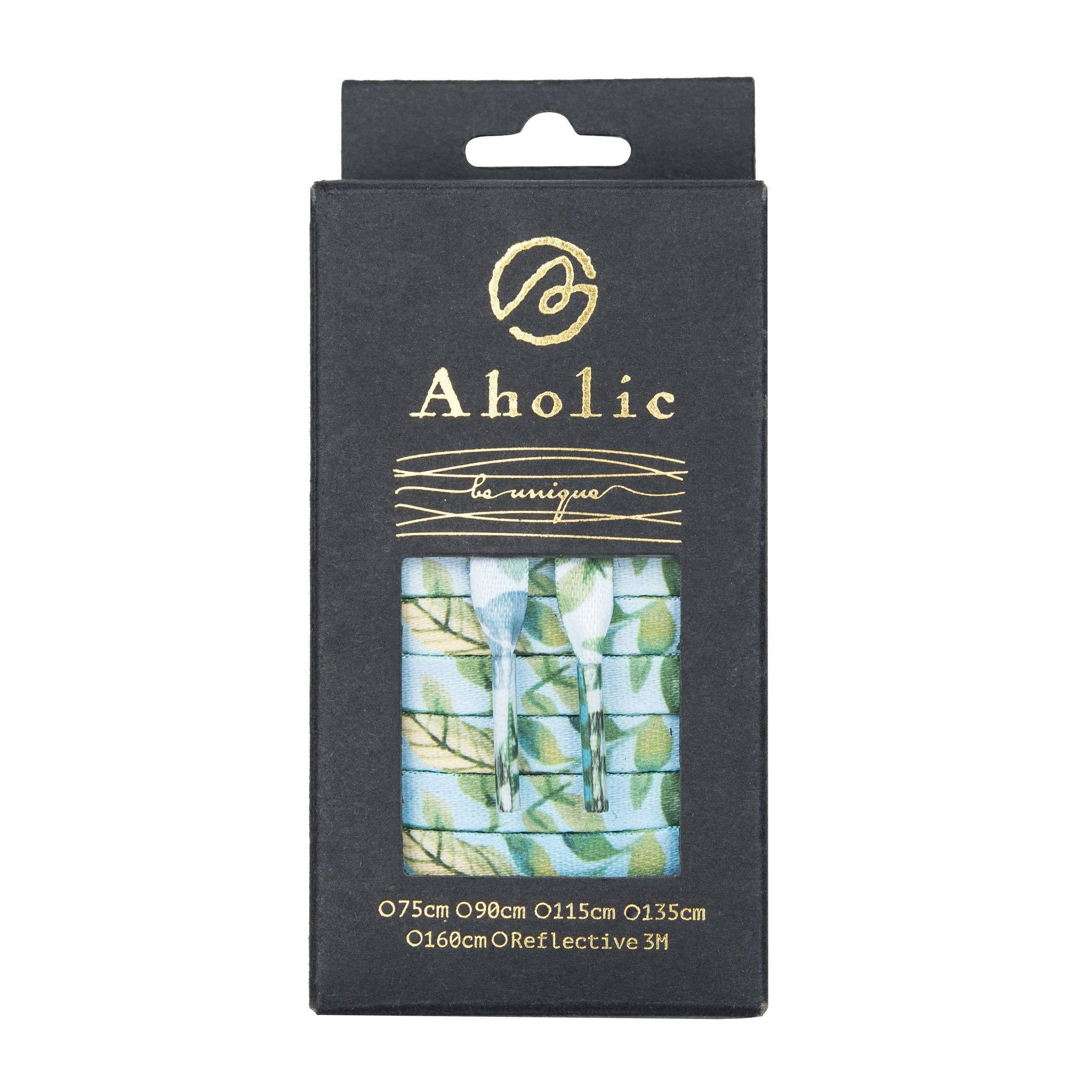 Aholic Floral Pattern Shoelaces (花卉鞋帶) - Blue (清新藍)-Shoelaces-Navy Selected Shop
