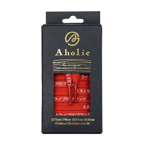Aholic Japanese Word Shoelaces (三葉日字鞋帶) - Red/White (紅白)-Shoelaces-Navy Selected Shop