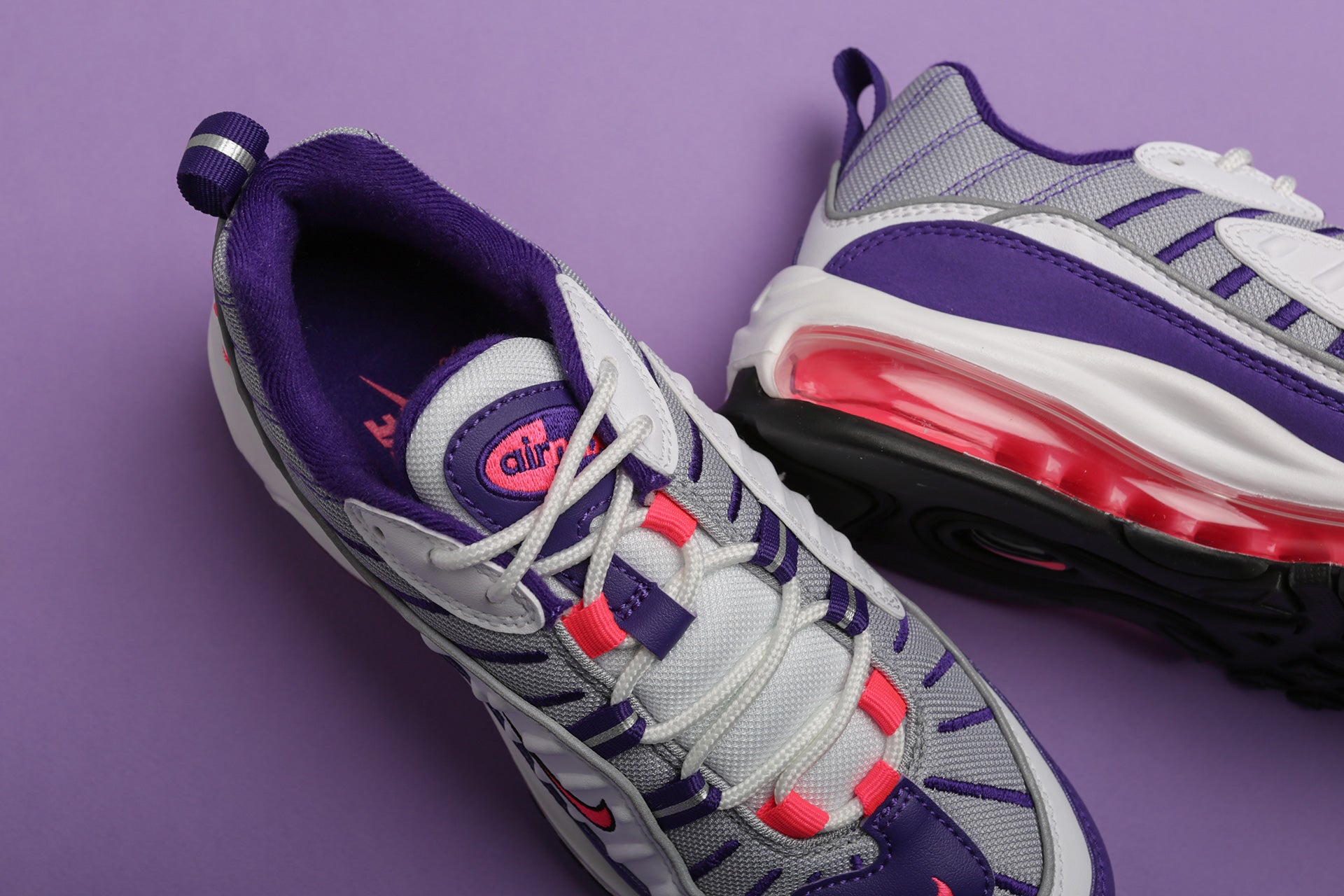 Nike WMNS Air Max 98 Premium - White/Racer Pink/Reflect Silver/Black #AH6799-110-Preorder Item-Navy Selected Shop