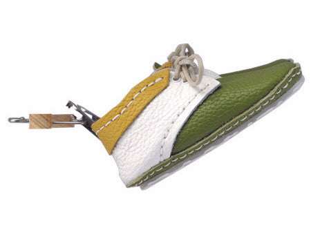 "First Baby Shoes SUSU model - White/Green/Yellow ""Made in Poland""-Baby Shoes-Navy Selected Shop"