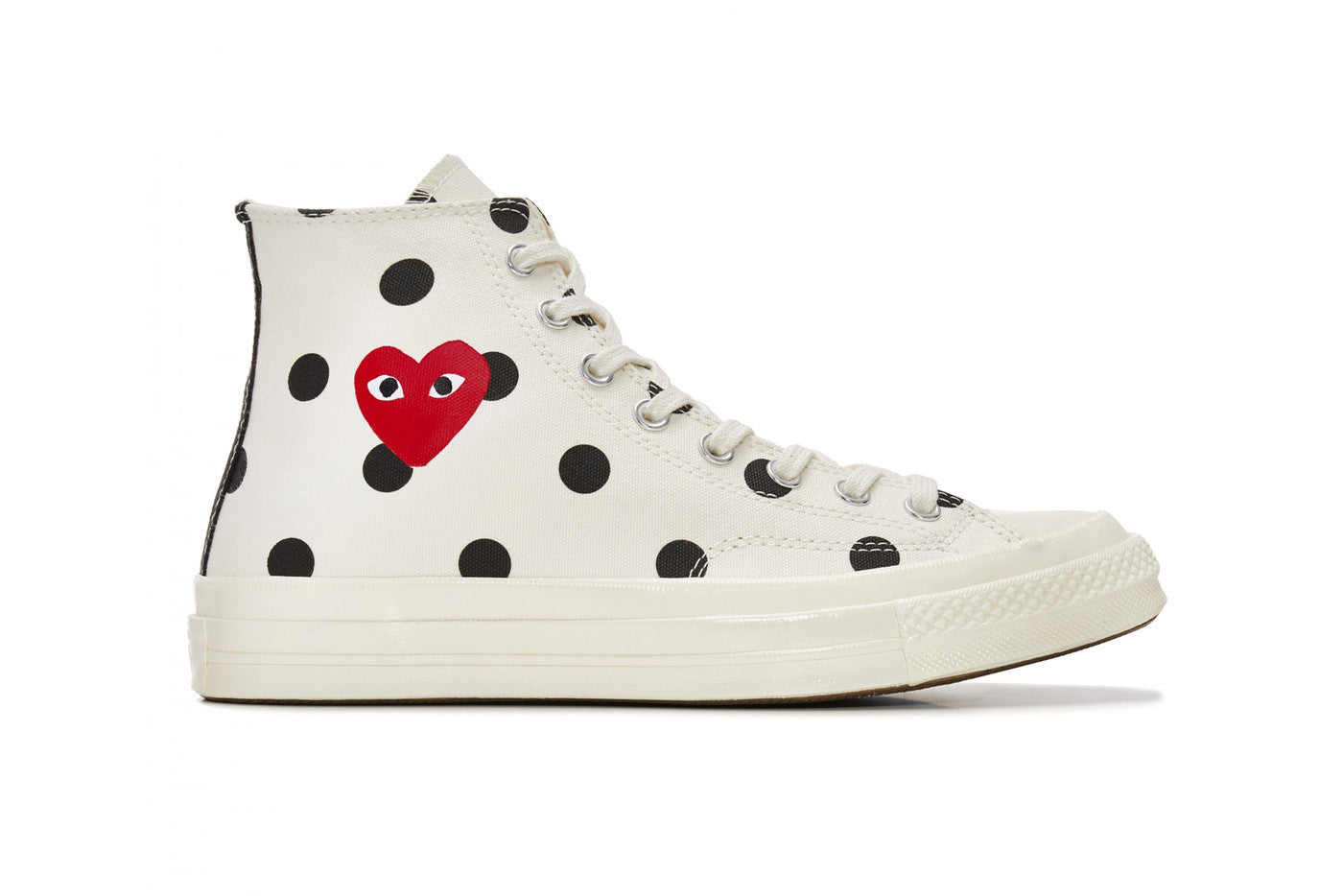 Play Comme des Garçons x Converse Polka Dot Red Heart Chuck Taylor All Star '70 High - White #157251C-Preorder Item-Navy Selected Shop