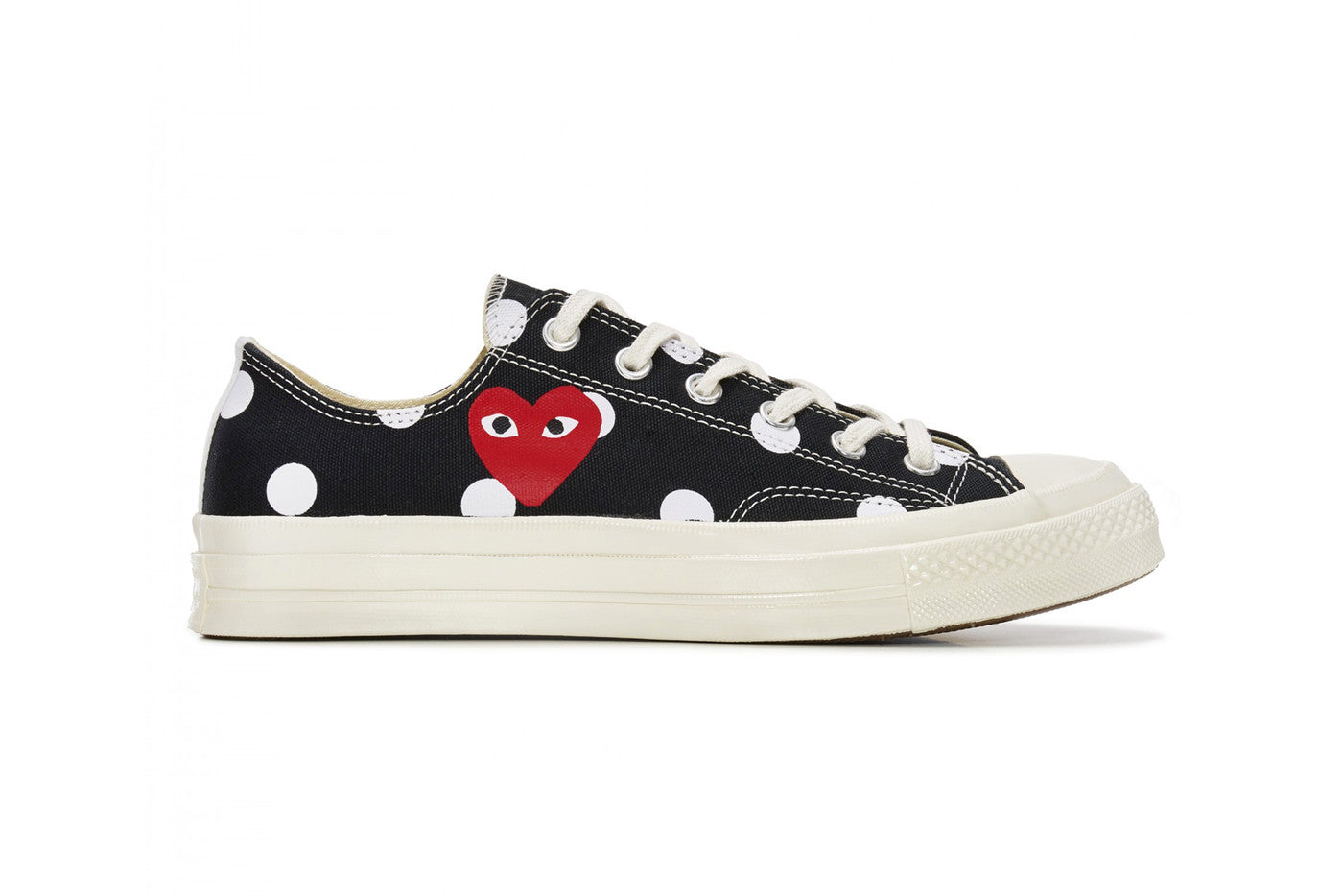 Play Comme des Garçons x Converse Polka Dot Red Heart Chuck Taylor All Star '70 Low - Black #157248C-Preorder Item-Navy Selected Shop