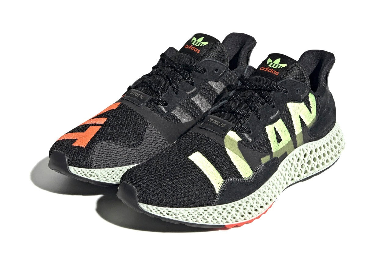 adidas ZX 4000 4D - Core Black/Hi-Res Yellow/Bright Cyan #EF9625-Preorder Item-Navy Selected Shop