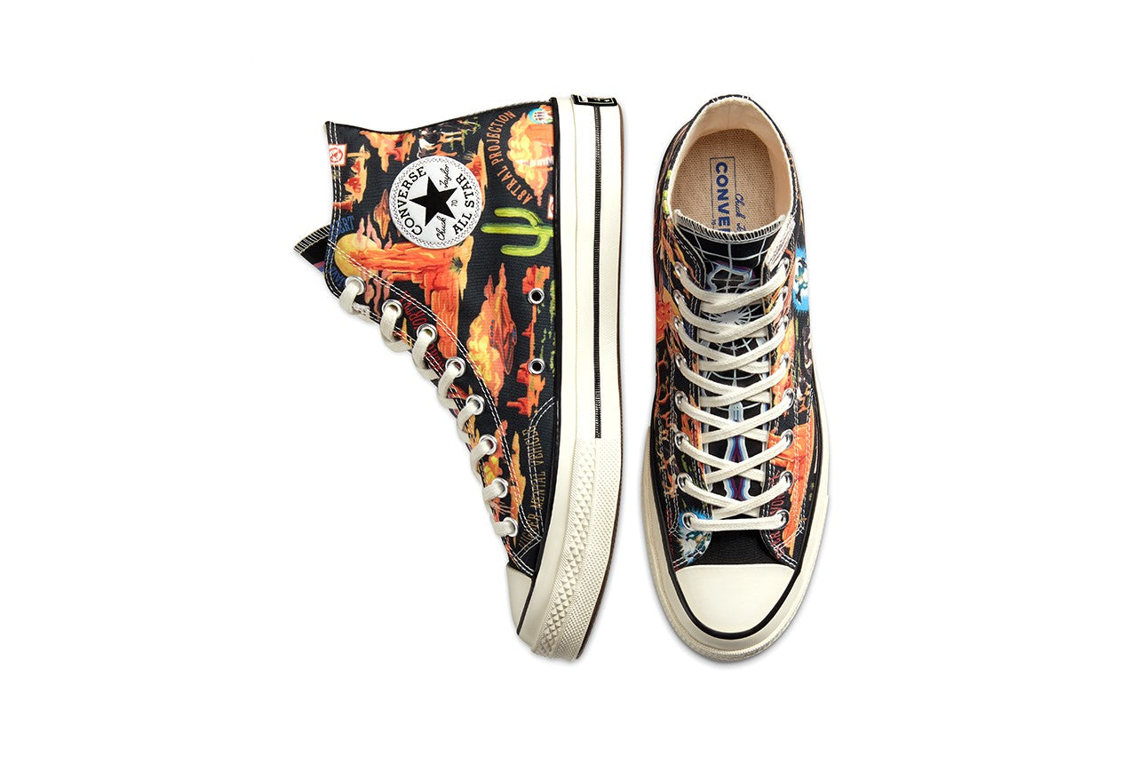 "Converse Chuck Taylor 70 Hi ""Twisted Resort"" - Black/Multi/Egret #167761C-Preorder Item-Navy Selected Shop"