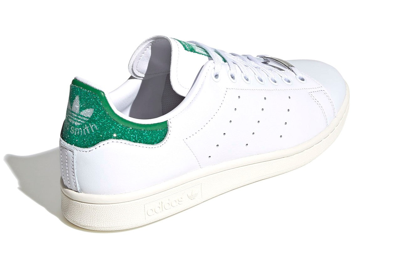 Swarovski x adidas Stan Smith - Cloud White/Green/Off White #FX7482-Preorder Item-Navy Selected Shop