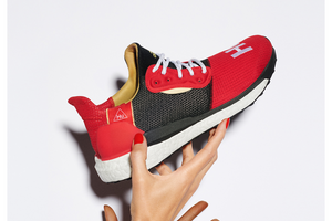 "Pharrell Williams x adidas Solar Hu Glide ""Chinese New Year"" - Red/Black/White #EE8701-Preorder Item-Navy Selected Shop"