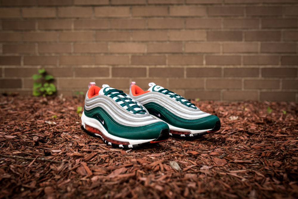 nike AIR MAX 97 RAINFORESTWHITE TEAM ORANGE BLACK bei