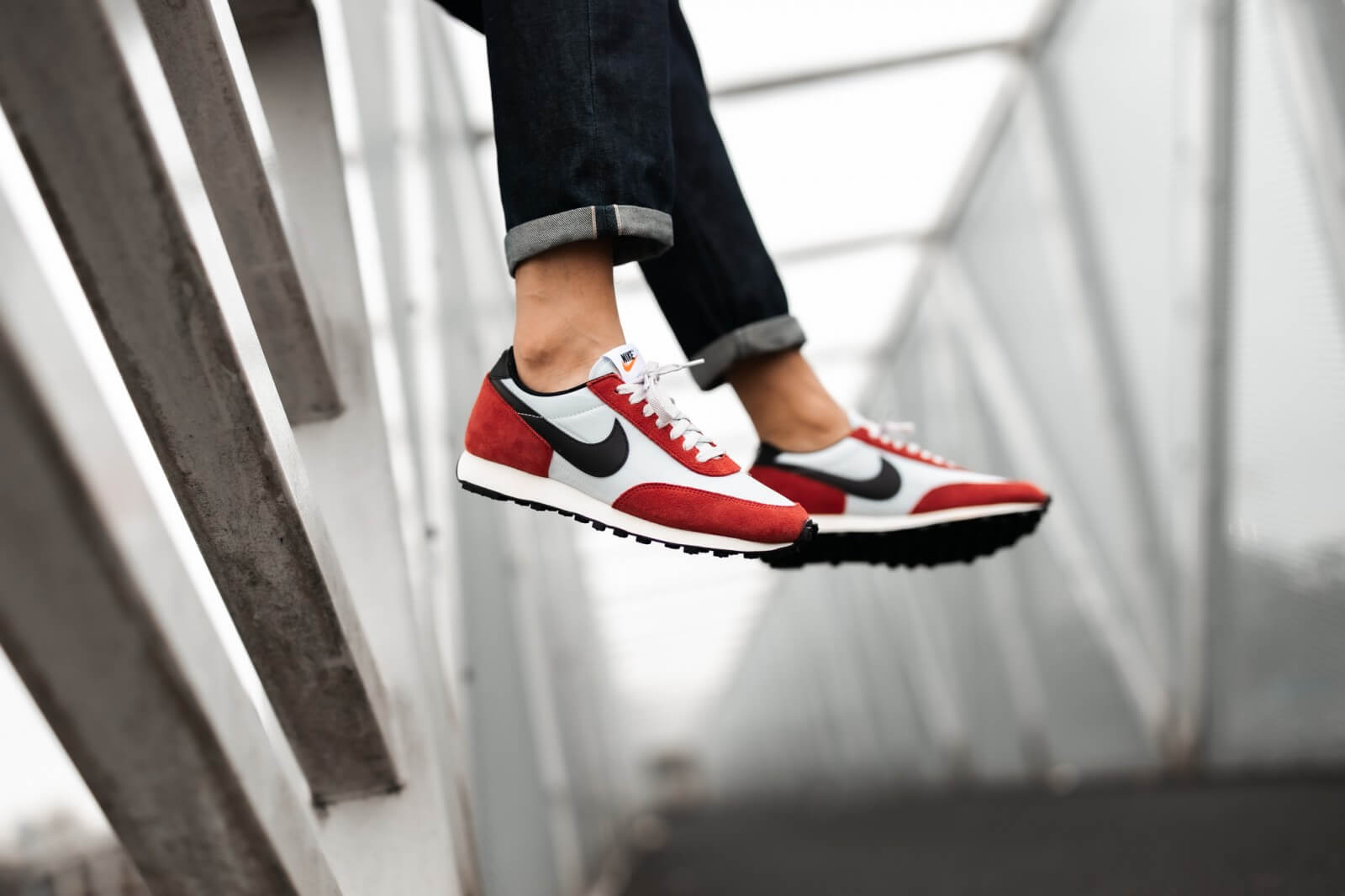 Nike Daybreak - Pure Platinum/Black/Gym Red/Sail #DB4635-001-Preorder Item-Navy Selected Shop