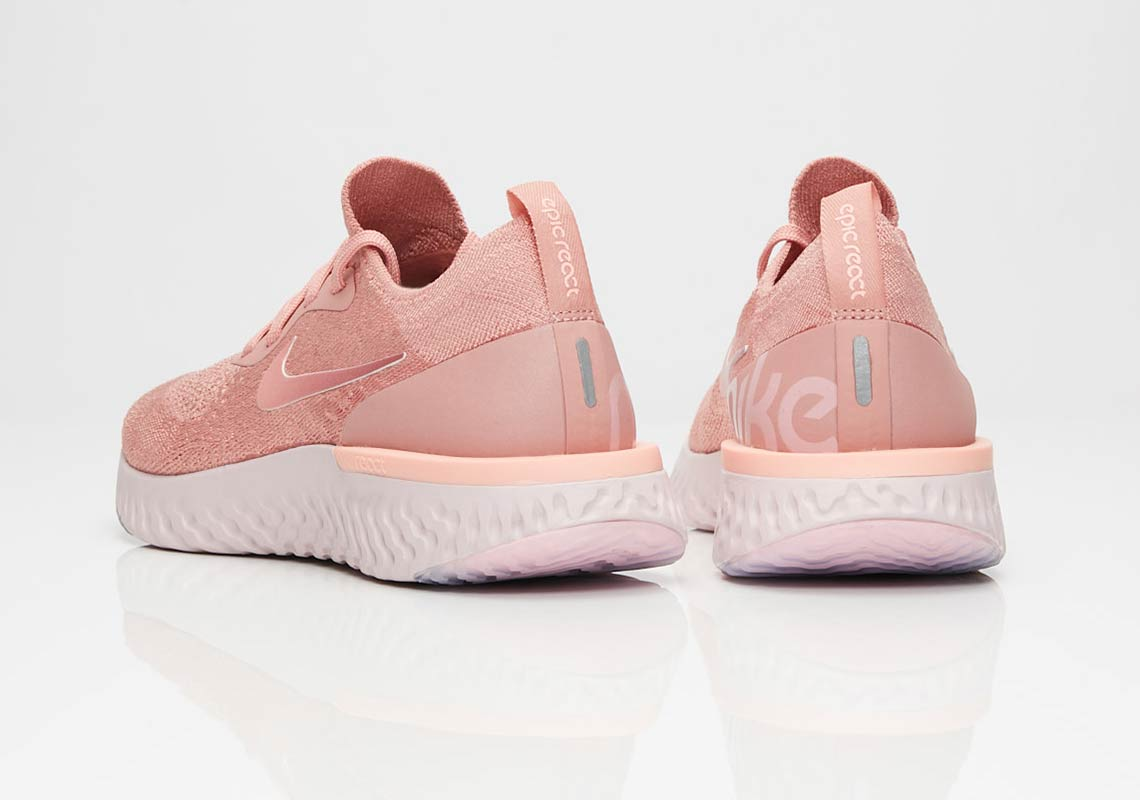 Nike WMNS Epic React Flyknit - Rust Pink/Pink Tint/Tropical Pink #AQ0070-602-Preorder Item-Navy Selected Shop