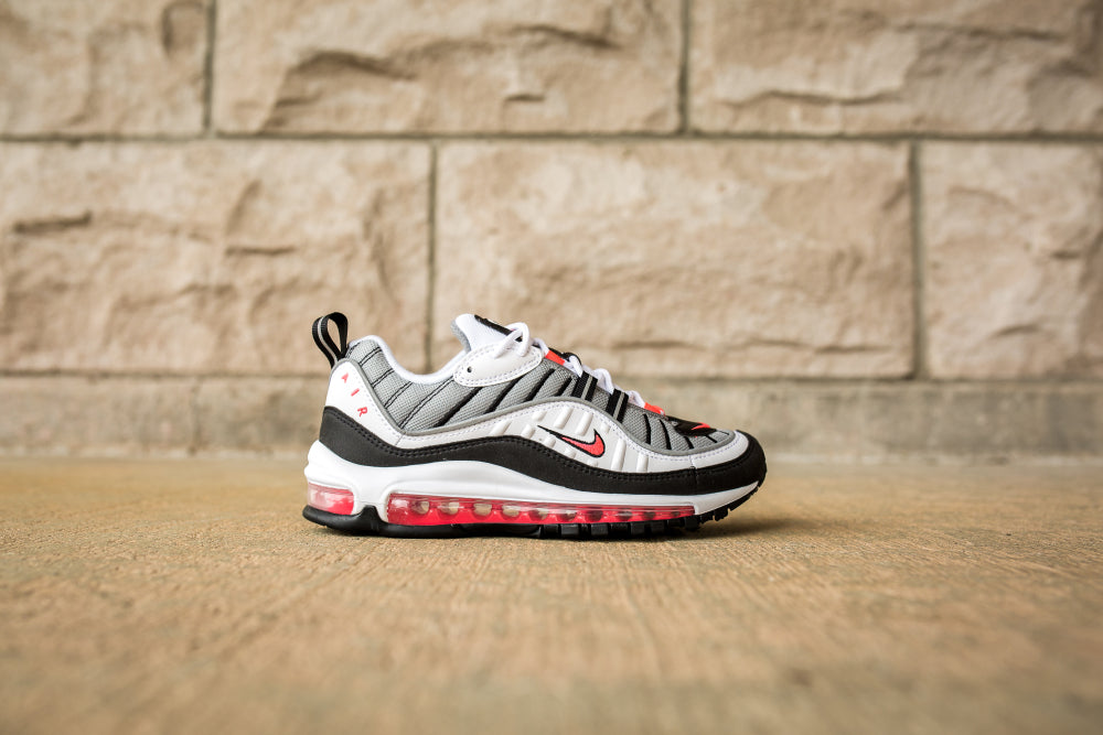Nike WMNS Air Max 98 - White/Solar Red/Dust/Reflect Silver #AH6799-104-Preorder Item-Navy Selected Shop
