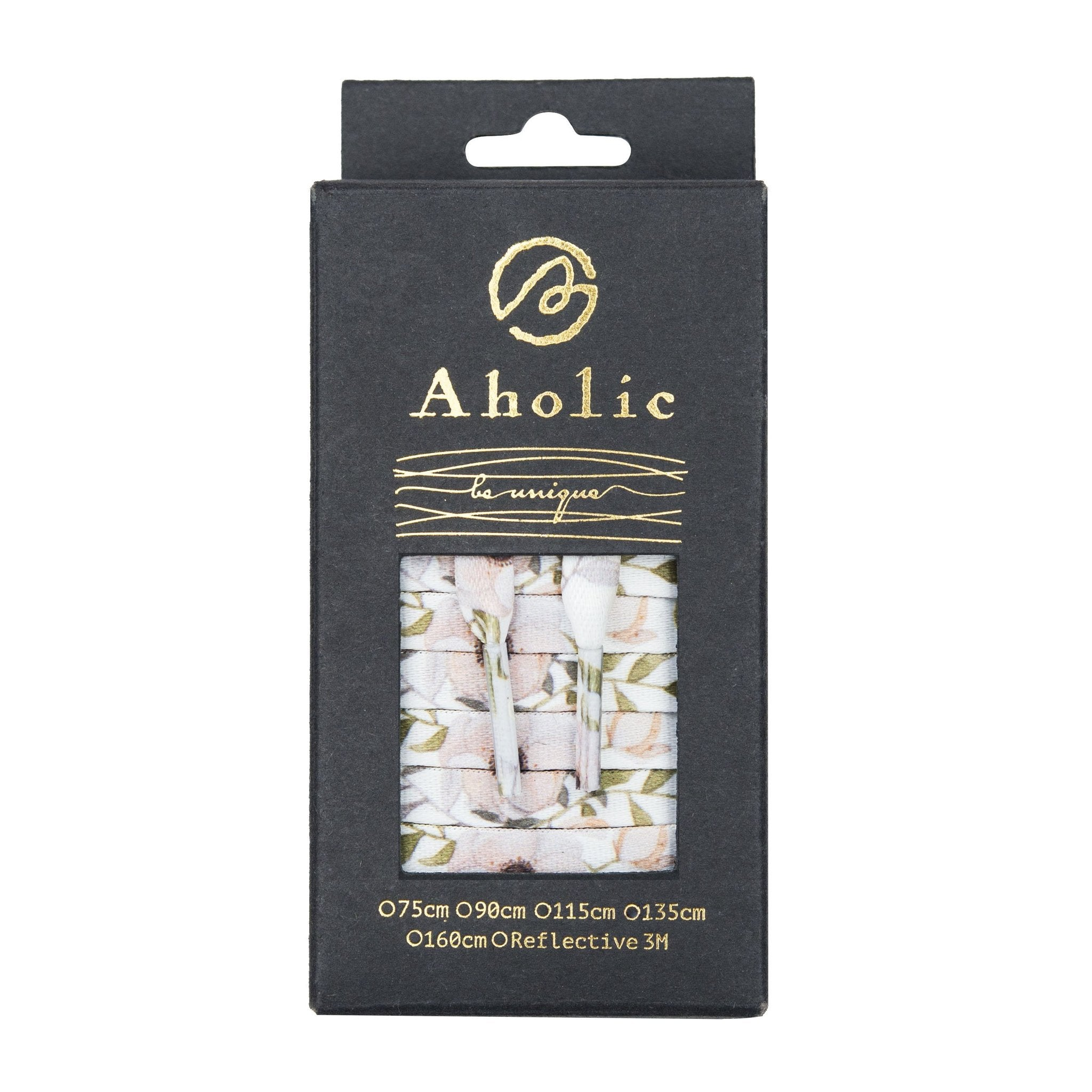 Aholic Floral Pattern Shoelaces (花卉鞋帶) - Pink (初戀粉)-Shoelaces-Navy Selected Shop
