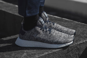 United Arrows & Sons x adidas NMD_R2 - Core Heather/Matte Silver/Footwear White #DA8834-Preorder Item-Navy Selected Shop