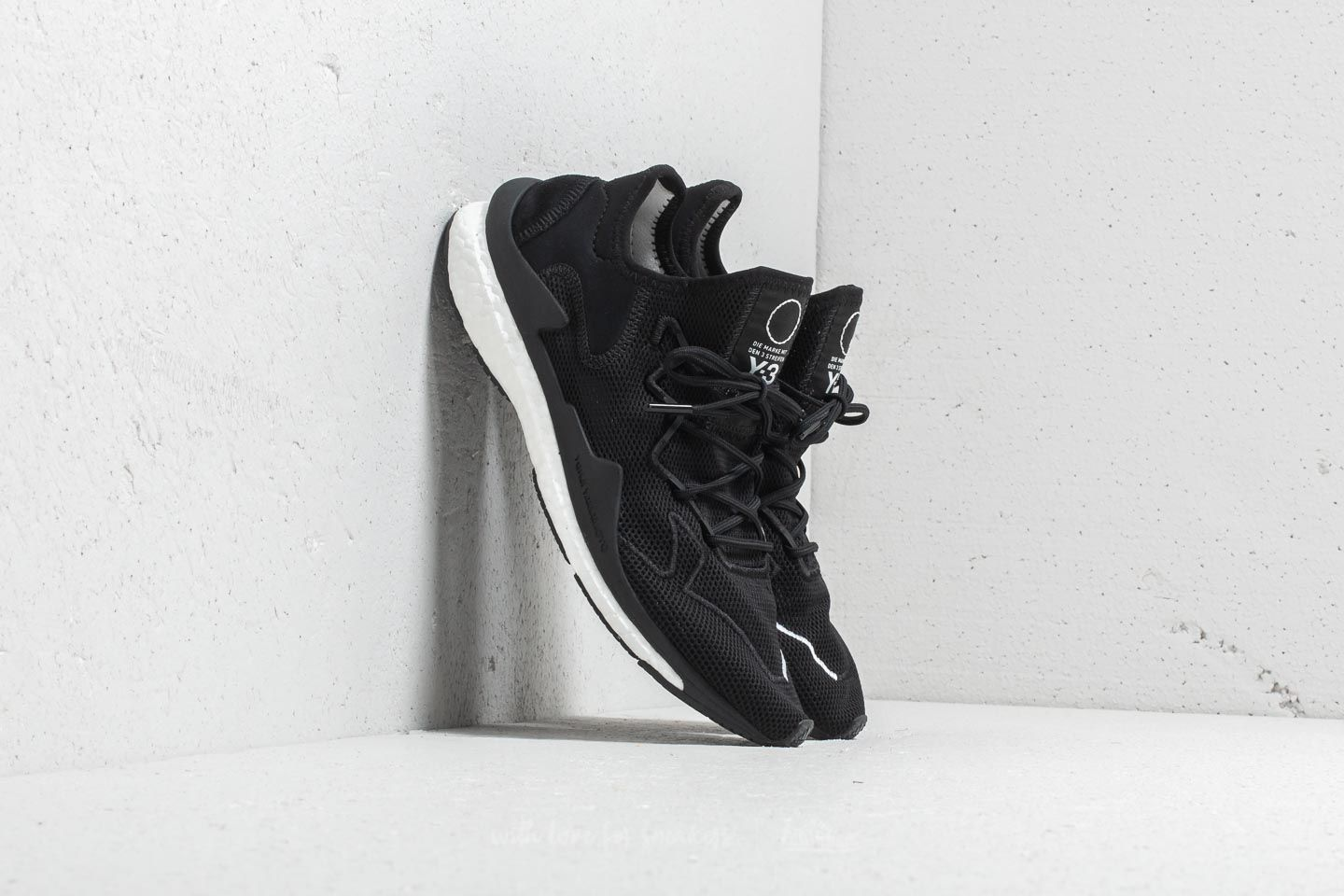 adidas Y-3 Adizero Runner - Black Y-3/Footwear White #D97837-Preorder Item-Navy Selected Shop