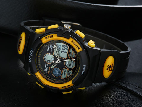 Cool Watches For Boys Rubber Band Digital Watch AD1501 Yellow Hot
