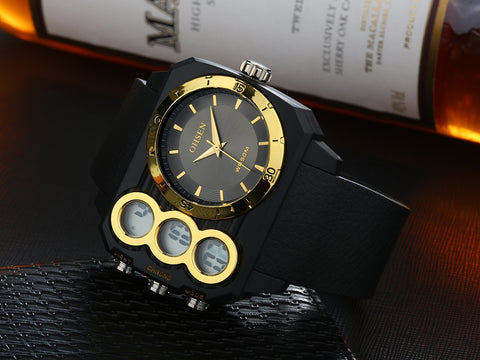 Latest Fashion For Men Casual Mens Sport Watch AD1503 Gold Hot