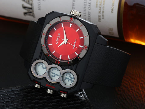 Men Luxury Watches Oversized Digital Watches AD1503 Red Hot