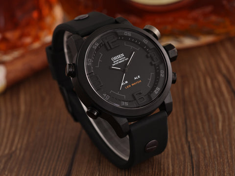 Silicone Band Men's Quartz Watches AD2820R